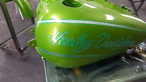 kandy paint green harley davidson platinum style auto body youtube