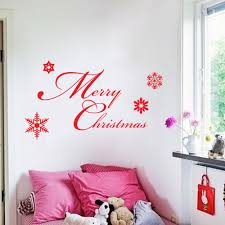 online get cheap kitchen quotes wall decals aliexpress com festive red merry christmas quotes wall stickers bedroom kids room living room kitchen home decor