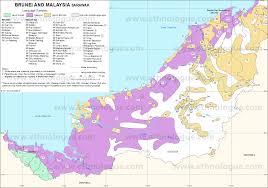 World Language Map by Brunei And Malaysia Sarawak Ethnologue