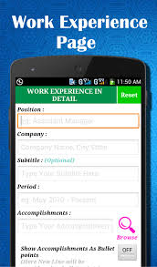 Mobile Resume Builder Free Easy Resume Builder Cv Jobs Resume Maker Free Android Apps On