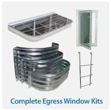egress window kits complete basement egress solutions