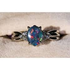 blue opal engagement rings jewels galaxy print jewelry diamonds pretty engagement ring