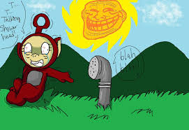 talking shower head teletubbies parody cyngawolf deviantart