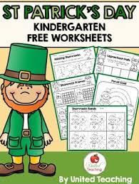 st patrick u0027s day kindergarten worksheets freebie by united teaching
