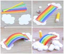 Paper Crafts - simple 3d rainbow paper craft easy peasy and