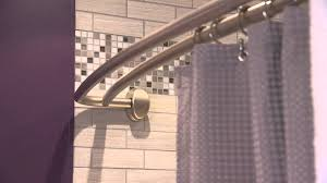 bathroom ideas with shower curtain bathroom contemporary curved shower curtain rod decor with tile