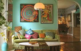 vintage livingroom living room pillows retro color queens of vintage