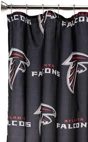 amazon com nfl atlanta falcons shower curtain sports u0026 outdoors