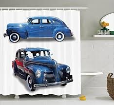car decorations car decorations shower curtain set by ambesonne