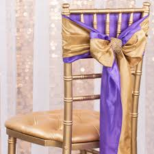 chair sash taffeta chair sash tie gold cv linens