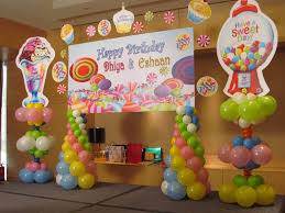 Home Balloon Decoration by Beautiful Candyland Decorations For Your Daughter Amazing Home Decor