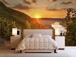 wandtapete schlafzimmer fototapete weinhänge sonnenuntergang schlafzimmer remontas