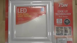 Costco Led Light Fixture Feit Flat Panel Led Light Fixture Detailed Install And Review