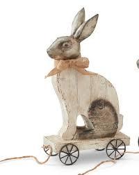 vintage rabbit vintage rabbit pull toys with pressed tin detail 2 styles