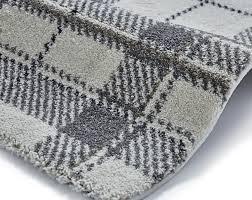 Brown Tartan Rug Tartan Rug Polypropylene Machine Made Checked Modern Wellness Mat