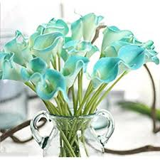 turquoise flowers garden artificial picasso calla flower