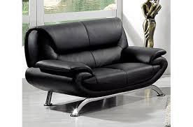 canape 2 place cuir canapé 2 places en cuir italien jonah noir mobilier privé