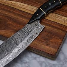 handmade damascus kitchen knife kch 24 evermade traders handmade damascus kitchen knife kch 24