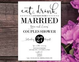 Eat Drink And Be Married Invitations Couples Shower