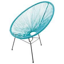 fauteuil de la maison fauteuil de jardin rond turquoise copacabana maisons du monde