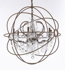 country farmhouse chandelier crystal and iron chandeliers awesome