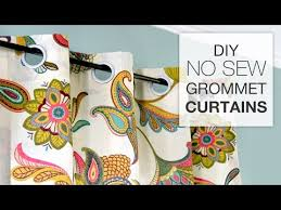 How To Make Your Own Drapes How To Make No Sew Grommet Curtains Youtube