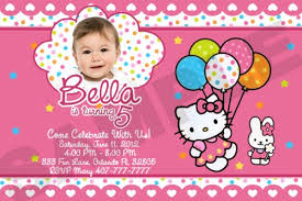 astounding hello kitty invitation card 13 on 1st birthday party
