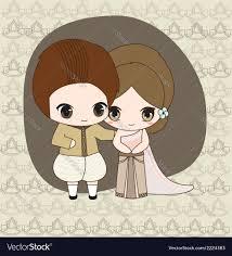 Thai Wedding Dress Thai Wedding Dress Royalty Free Vector Image Vectorstock