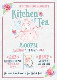 kitchen tea invitation ideas kitchen tea invitation or bridal shower tea invitation by
