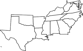 us outline map printable free label southern us states printout enchantedlearningcom outline