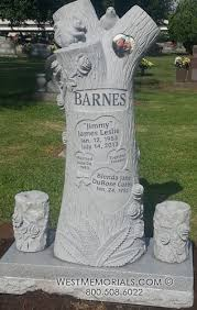 tree stump headstone cemetery memorial ideas memorials
