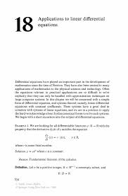 linear algebra and diffeial equations