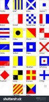 Flag Signals Meaning Set Maritime Signal Flags All Elements Stock Vector 544295389