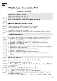 Sap Sd Consultant Resume Sample Sap Sd Resume Sle 28 Images Sap Fi Cv Template Oilfield