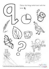 Alphabet Of Children Colouring Pages Q Coloring Pages Q