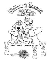 wallace gromit curse rabbit coloring pages