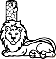 letter l is for lion coloring page free printable coloring pages