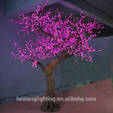 2 5m artificial tree led cherry tree decoration light outdoor