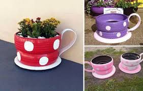 coffee cup planter home design styles