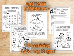 kids halloween activity coloring pages kids favors