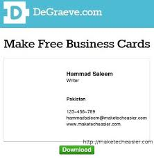 Design A Business Card Free 6 Online Tools To Create Business Cards