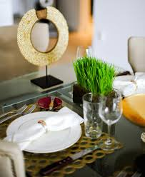 Gold Table Setting by Host A Mod Inspired Dinner Party Fashionable Hostess