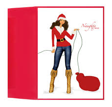 beautiful stylish african american holiday new year greeting card