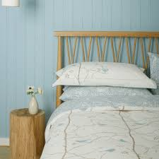 sanderson bedding dawn chorus in blue u0026 ivory at bedeck 1951