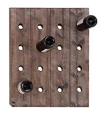 amazon com wooden 16 bottle wall wine rack rustic