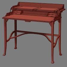3d model theodore alexander mornig room campaign desk vr ar
