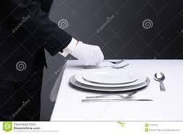 Formal Dining Setting Table Waiter Setting Formal Dinner Table Stock Image Image 27557521