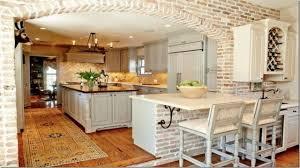 brick wall kitchen kitchen islands with columns kitchen with