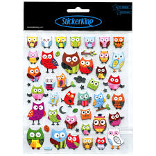buy tattoo king multi colored owl stickers