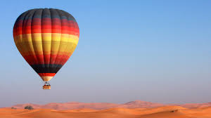 dubai air balloon flight youtube
